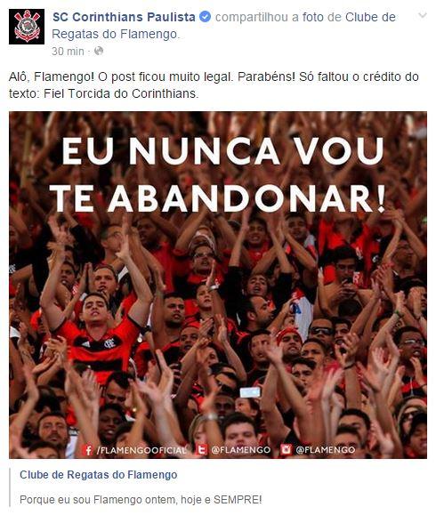 Corinthians Cobra Créditos Por Frase E Flamengo Revida Com