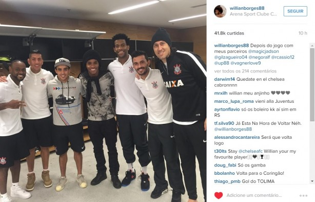 Willian na Arena Corinthians
