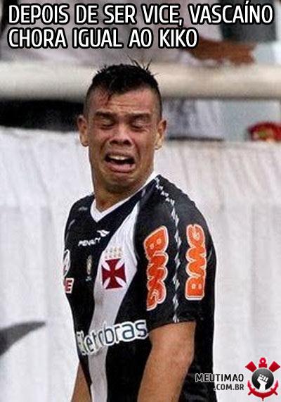 Jogador do Vasco chorando igual ao kiko