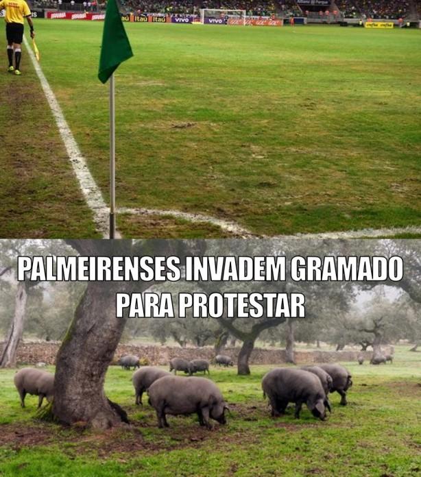 Palmeirenses, protesto