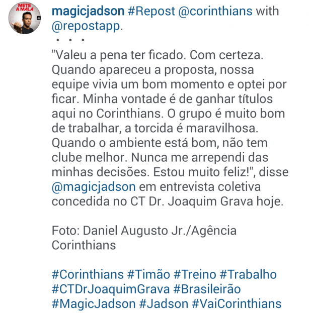Magic Jadson no Instagram