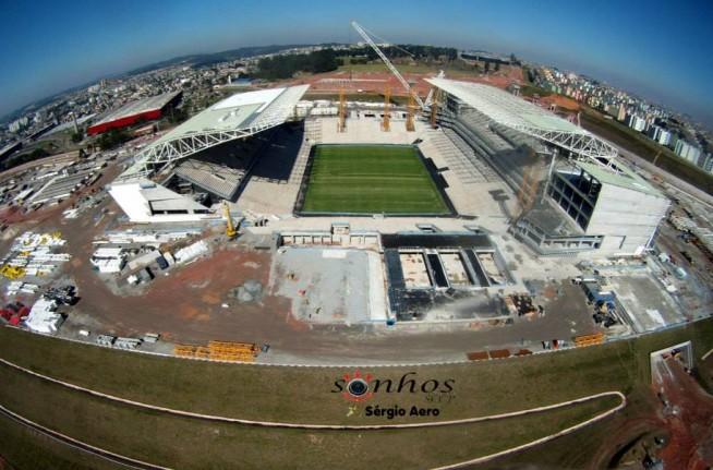 Incr�vel: novas imagens a�reas da Arena Corinthians