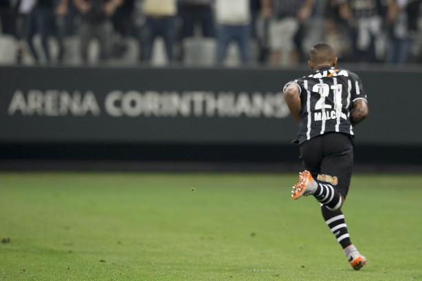 Malcom foi um dos destaques da partida contra o Atlético-MG